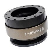 NRG SFI RATED STEERING WHEEL QUICK RELEASE BLACK BODY TITANIUM RING