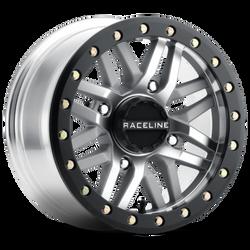 RACELINE A91MA- RYNO MACHINE FINISH UTV BEADLOCK WHEEL 14X7 4X137 LUG PATTERN