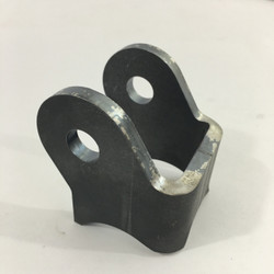 bent and curved shock mount bracket