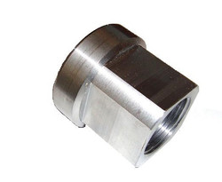 "7/8""-14 LHT THREADED BUNG FOR 1.5"" ID SQUARE TUBING"