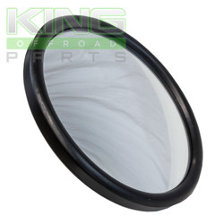 "5"" ROUND MIRROR WITH FLAT GLASS AND BLACK BACK"
