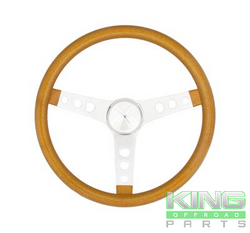 "GOLD METAL FLAKE 13 1/2"" STEERING WHEEL WITH 3 1/2"" DISH"