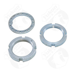 Yukon axle bearing & seal kits are specially designed for each application & use all high quality bearings & seals.     Replacement spindle nut and washer kit for Dana 30 & Dana 44, CJ and Scout.