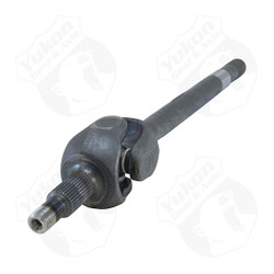 Yukon 1541H replacement left hand assembly for Dana 44, '76-'79 Ford with 30 splines. The inner axle measures 18.9 inches and the axle measures 28.6 inches overall. Yukon 1541H alloy axles offer a strength increase over stock while retaining a low cost.  Yukon 1541H alloy front axles come with a one year warranty against manufacturing defects.