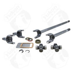 "Yukon front 4340 Chrome-Moly replacement axle kit for '71-'80 Dana 44 Scout with 27/30 splines. Yukon 4340 Chrome-Moly axles provide up to 50% increased strength over stock axles for use in extreme performance applications with large tires and high horsepower. Yukon's 4340 axles are manufactured using the latest technologies and the highest quality materials to ensure high strength and long life. This kit comes with inner & outer axles for both left and right sides along with Dana U/joints. Limited Lifetime warranty covers manufacturing defects and axle breakage for as long as you own the vehicle. This warranty is not transferable to another party. ""No Questions Asked"" replacement for first warranty return, however Yukon reserves the right to either replace axle or refund original purchase price after the first warranty claim. Yukon (through Randy's ring & pinion) makes final determination on warranty considerations."