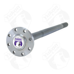 "Yukon 4340 Chrome Moly replacement rear axle for Dana 80, 37 spline. This is a cut to fit axle which fits 34"" to 36.5"" applications. Yukon 4340 Chrome Moly alloy axles offer a strength increase over stock while retaining a low cost. Yukon 4340 Chrome Moly alloy rear axles come with a limited lifetime warranty against manufacturing defects."