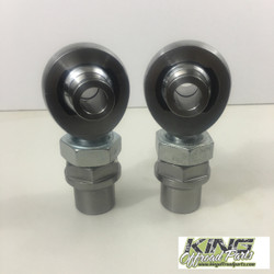 "KORP 1.25"" CHROMOLY HEIM SET FOR 2.625 WIDTH POCKET AND 9/16 BOLT HEX BUNG"