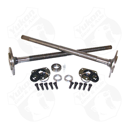 One piece, long axles for '82-'86 Model 20 CJ7 & CJ8 with bearings and 29 splines, kit. Yukon 1541H alloy axles come with a five year warranty against manufacturing defects. These axles will not work with an Auburn Ected or a factory Powr Lok posi with two piece side gears.