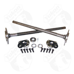 One piece axles for '76-'79 Model 20 CJ7 Quadratrack with bearings and 29 splines, kit. Yukon 1541H alloy axles come with a five year warranty against manufacturing defects. These axles will not work with an Auburn Ected or a factory Powr Lok posi with two piece side gears.