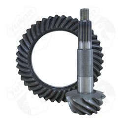Yukon Ring & Pinion sets give you the confidence of knowing you're running gears designed for the harshest of conditions. Whether it's on the street, off-road, or at the track; Yukon ring & pinion sets deliver unrivaled performance & quality.      Yukon uses the latest designs and manufacturing technologies to provide a quiet running gear that is strong and easy to set up. All Yukon ring & pinion sets come standard with a one-year warranty. This is a thick ring & pinion for use on a 3.73 and down carrier.
