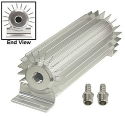 "15"" SINGLE PASS FINNED ANODIZED ALUMINUM TRANSMISSION HEAT SINK"