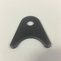 """Medium radius tab for 1.5"""" tubing 3/8"""" hole 1/8"""" thick"""
