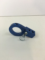 "hard anodized blue clamp on fold down whip mount for 1.75"" tubing"