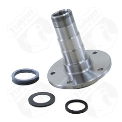 "Replacement front spindle for Dana 60 Ford, 5 holes, 7"" long, 6.5"" flange, 2.020x2.255bearing."