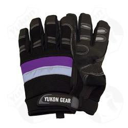 *Premium cowhide leather palm  *Spandex back  *Adjustable wrist closure