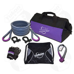 """*7/8"""" kinetic rope - 30 feet long    *Soft shackle    *Two D-rings    *One pair of gloves    *Storage bag     *Kinetic design increases pulling capacity by up to 30%     *Rope rated to 28,000 lbs."""