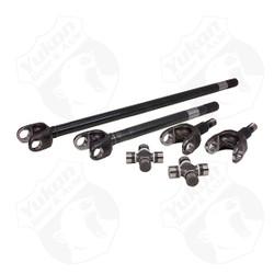USA Standard 4340 Chrome-Moly axle kit for TJ/XJ/YJ/WJ/ZJ front, Dana 30, 27 spline w/Super Joints