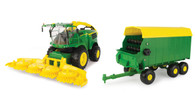 1/16 Big Farm John Deere 8600 Silage Chopper/ Forage Wagon  Combo Pack