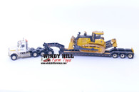 1/50 John Deere 1050K Crawler with Freightliner Semi and Trailer