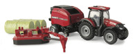 1:64 Case IH Maxxum 145 with Round Baler and Mower Conditioner