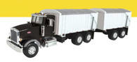 1/16 Big Farm Peterbilt Grain Truck and Pup Trailer