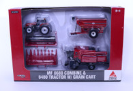 1/64 Massey Ferguson 8680 Harveting Set