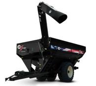 1/64 J&M 1112 Grain Cart - Black - American Decals with Duals