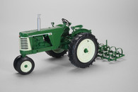 1/16 Oliver 660 with spring tooth Harrow