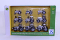 1/64 John Deere 9-piece set  Silver set