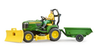 1/16 John Deere X949 mower with wagon blade and driver