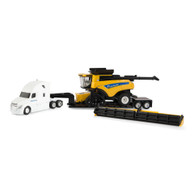 1/64 New Holland CR9.90 Combine Hauling Set