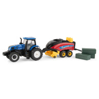1/64 New Holland T8.380 with Large square baler