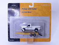 1/64 John Deere  pickup truck and trailer