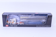 1/64 DCP Peterbilt 389 with sleeper and Walinga Bulk Feed Trailer white
