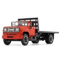 1/64 orange GMC 6500 flatbed truck