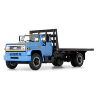 1/64 Blue/black Chevy C65 flatbed truck