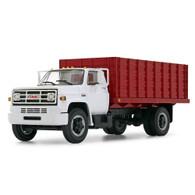 1/64 White/red GMC 6500 grain truck