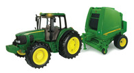 1/16 BIG FARM JOHN DEERE TRACTOR AND BALER SET