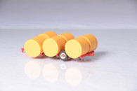 1/64 Red Round Bale Transport with straw bales