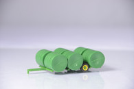 1/64 Round bale transpor (green) and hay bales