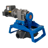 120 Single Diaphragm Electric Pump Skid Mount - Aluminum (120ELA-40-200)