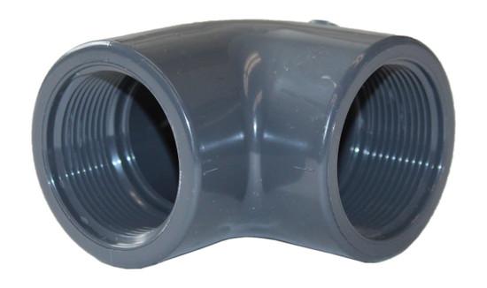 """Elbow 90 Degree 1.5"""" FNPT x 1.5"""" FNPT SCH 80 PVC (160-A-1023)"""