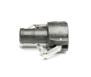 """Quick Clamp Hose Coupling - 1.5"""" Female QC x 1.5"""" Hose Barb - Polypropylene (156FE-150NY)"""