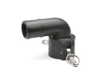 "Quick Clamp Coupling - 90 Degree, 1.5"" Female QC x 1.5"" Hose Barb - Polypropylene (149FE-150NY)"