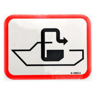 Pumpout Symbol Sign (Sticker)