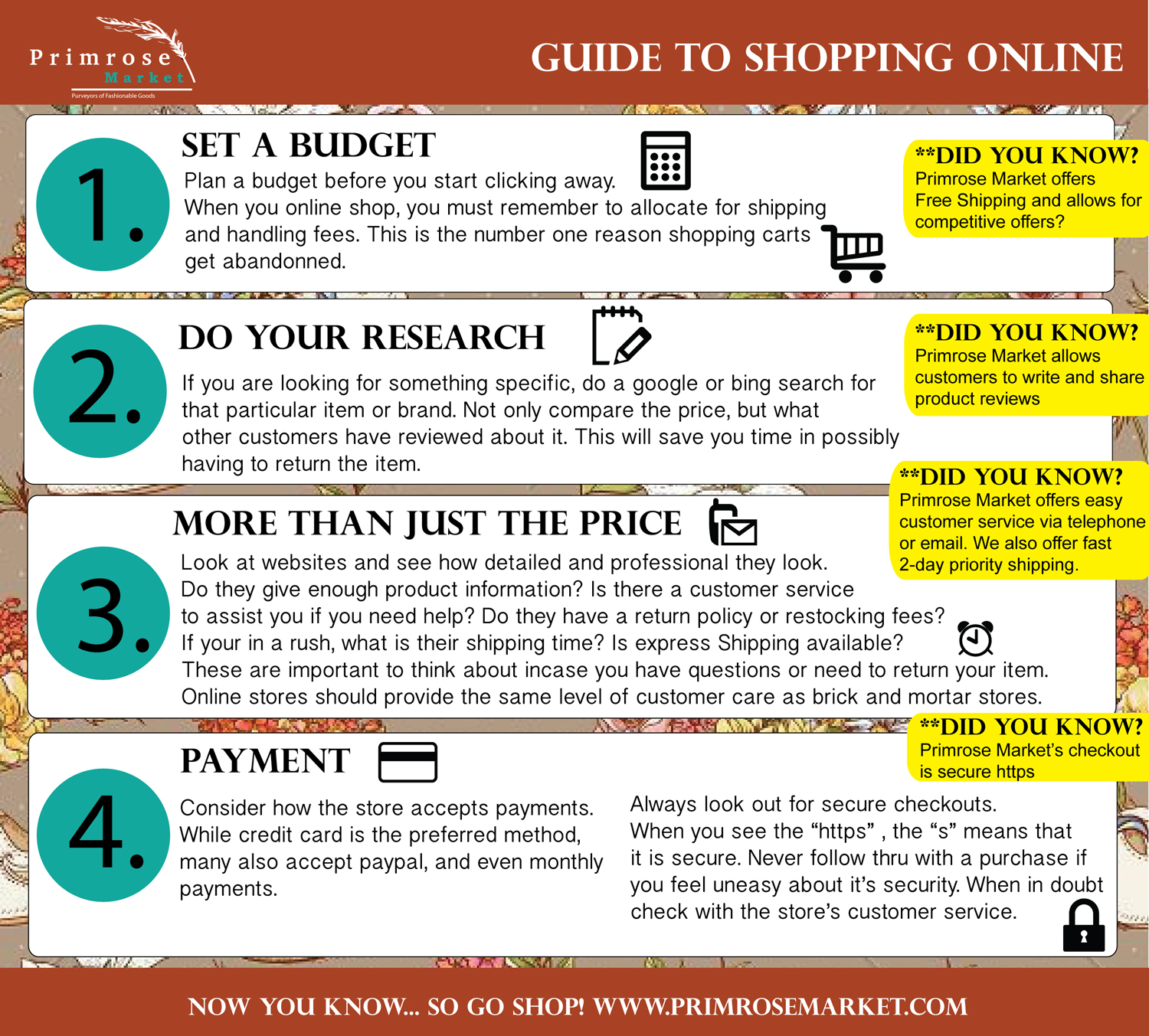 Guide to Shopping Online | Primrose Market