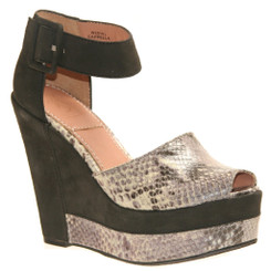 Bacio 61 Capella, Womens High Heel Wedge Snake Skin