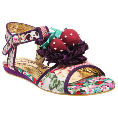 Irregular Choice Oh Matron, Floral print open toe sandal, Floral Irregular Choice sandal