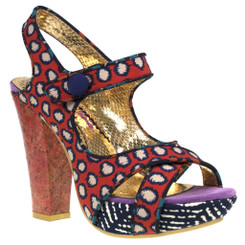 Irregular Choice Mermaid Find, Irregular choice Printed High Heel Sandal, Tribal Print High Heels