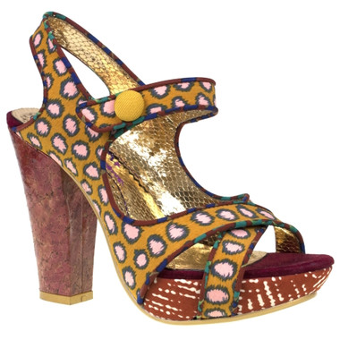Irregular Choice Mermaid Find, Irregular choice Printed High Heel Sandal, Tribal Print High Heels
